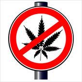 No Weed — Stock Vector