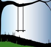 Garden Swing — Stock Vector
