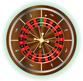 Rueda de la ruleta — Vector de stock