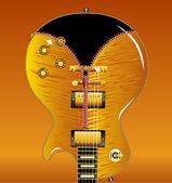 Zipper Guitar — Stock Vector