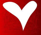 Coeur blanc — Vecteur