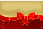 Silk Ribbon and Bow — Vettoriale Stock
