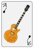 Guitar Playing Card — Stock Vector