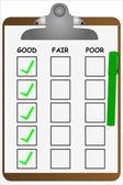 Clipboard Checklist — Stock Vector