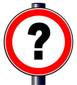 Question Mark Traffic Sign — Stock Vector