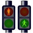 Walking Man Traffic Lights — Stock Vector #44704793