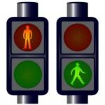 Walking Man Traffic Lights — Stock Vector