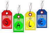 Christmas Sale Tag Set — Stock Vector
