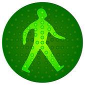 Green Walking Man — Stock Vector