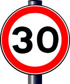 30 MPH Sign — Stock Vector