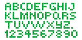 Cross Stitch Alphabet and Numbers — Stockvektor