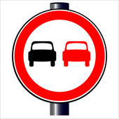 No Overtaking — Stock Vector