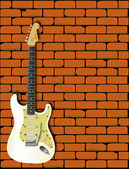 Rock Guitar Wall — Stock Vector