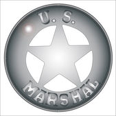 US Marshal Badge — Stock Vector