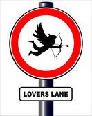 Lovers lane — Stockvector
