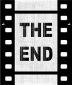 Het einde — Stockvector