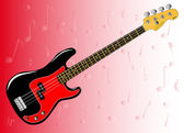 Bass Guitar Background — Stock Vector