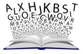 Boek van brieven — Stockvector