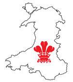 Wales Fleur De Lis — Stock Vector