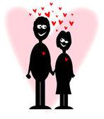 Valentine liefhebbers — Stockvector