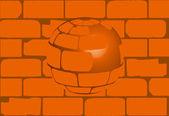 House Brick Ball — Stock Vector