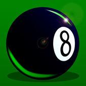 Bola oito — Vetor de Stock