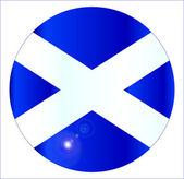 Scottish Flag Button — Stock Vector