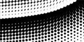 Half Tone Curve — Stock Vector