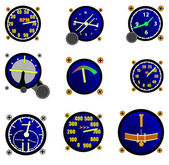 Various Aircraft Gauges — Stock Vector