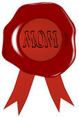 Mothers Day Wax Stamp — Stock Vector