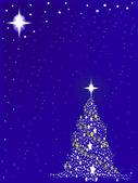 Blue Blue Christmas — Stock Vector