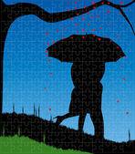 Puzzle di amore — Vettoriale Stock
