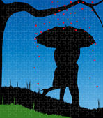 Love Jigsaw — Stock Vector