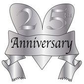 25th Anniversary Heart — Stock Vector