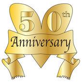 50th Anniversary Heart — Stock Vector