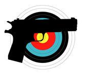 Pistol Target — Vetorial Stock