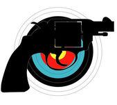 Objetivo del arma de mano — Vector de stock