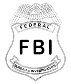 Feds Badge — Stock Vector