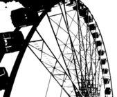 Fairground Big Wheel — Stock Vector