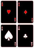 Black Aces — Vector de stock