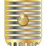 Golden Microphone — Stock Vector