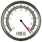 Stress Meter — Stock Vector