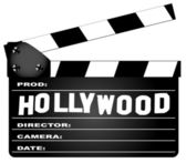 Hollywood Clapperboard — Stock Vector