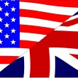 USA and UK Flags — Stock Vector #50877593