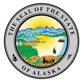 Seal of the state of Alaska — Stock Vector