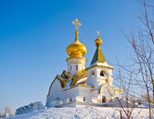 Russia. Winter Temple of the Seraph Sarovskogo — Stock Photo