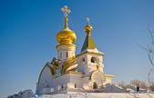 Russland. wintertempel der seraph-sarovskogo — Stockfoto