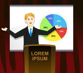 Presentation Person — Stock Vector