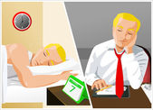 Businessman Sleeping — Stock Vector