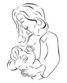 Borstvoeding — Stockvector